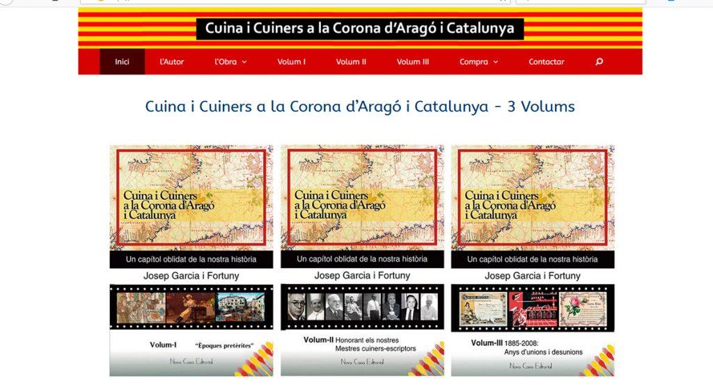 Web obra Cuina i Cuiners a la Corona d'Aragó i Catalunya - 3 Volums